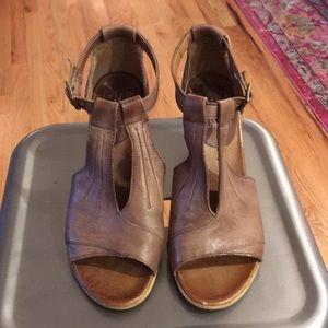 Miz Mooz Brown Leather Heeled Sandals